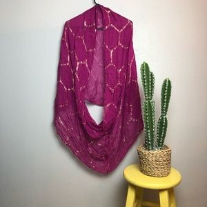 GORGEOUS pinkish purple and gold wrap scarf